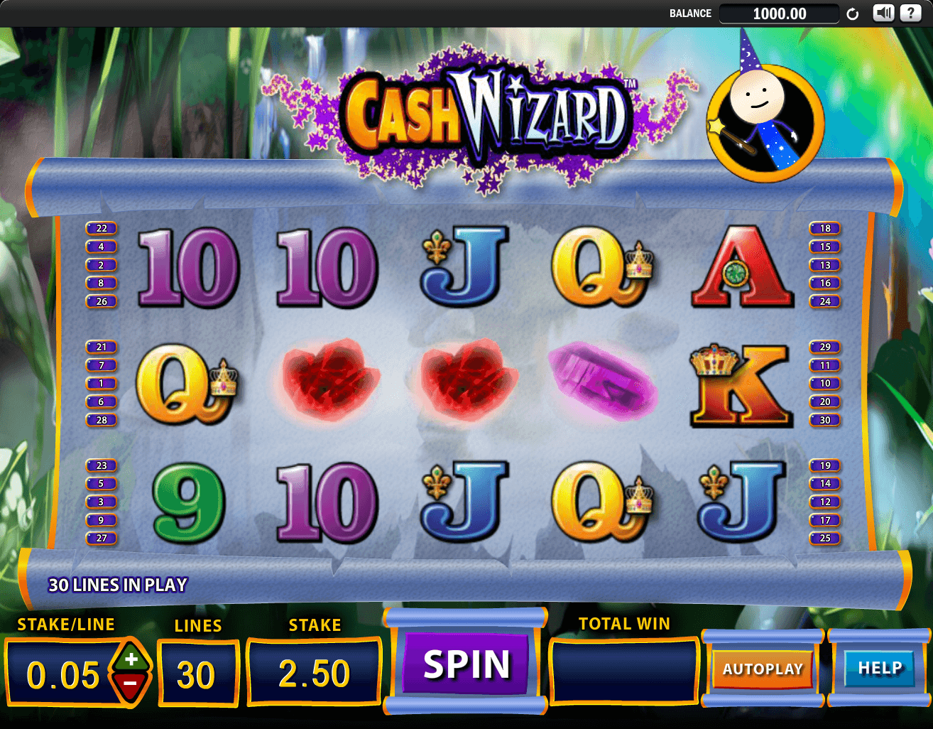 cash wizard slot machine online