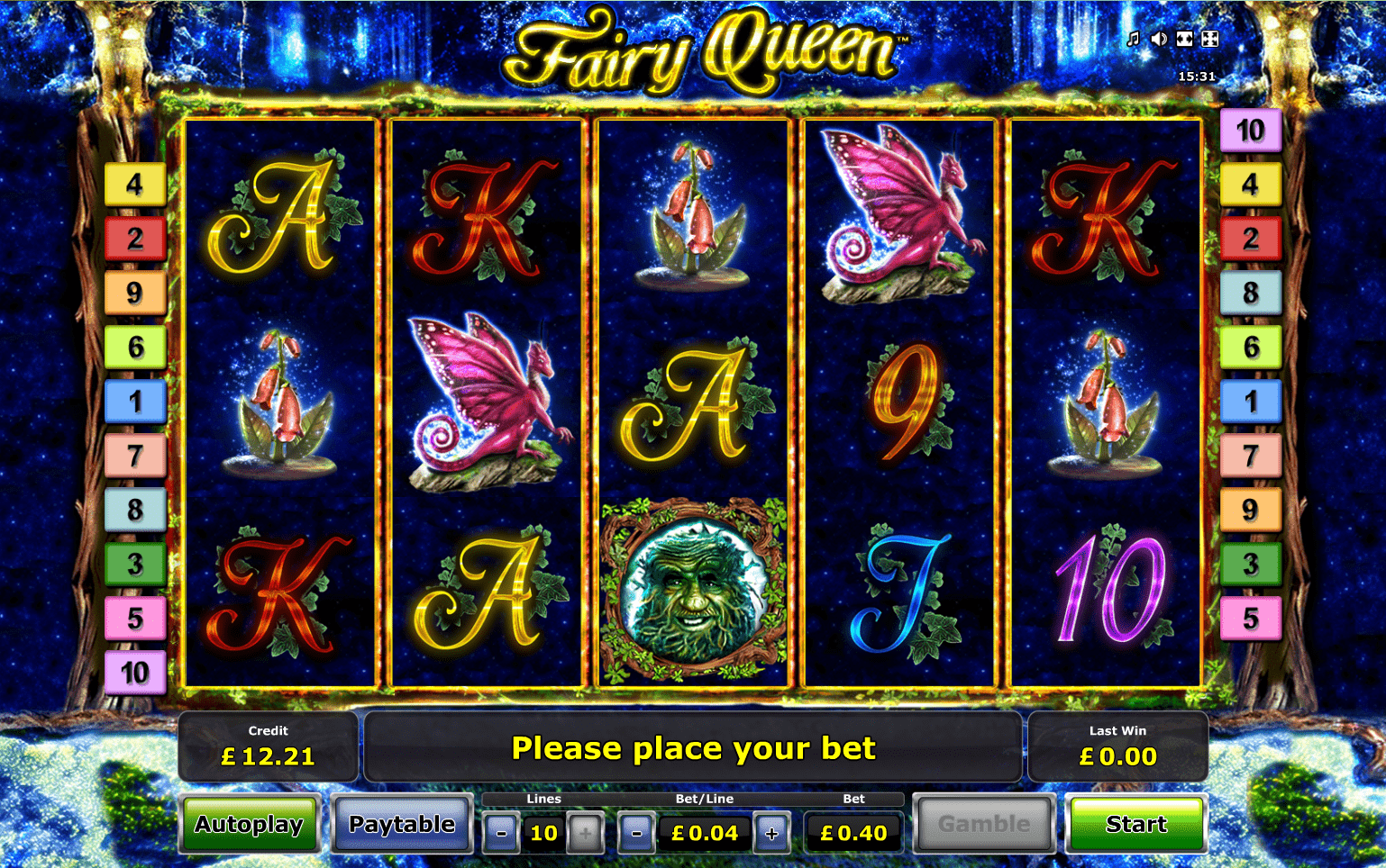Fairy queen slot machine does the prefer option work on broadway roulette