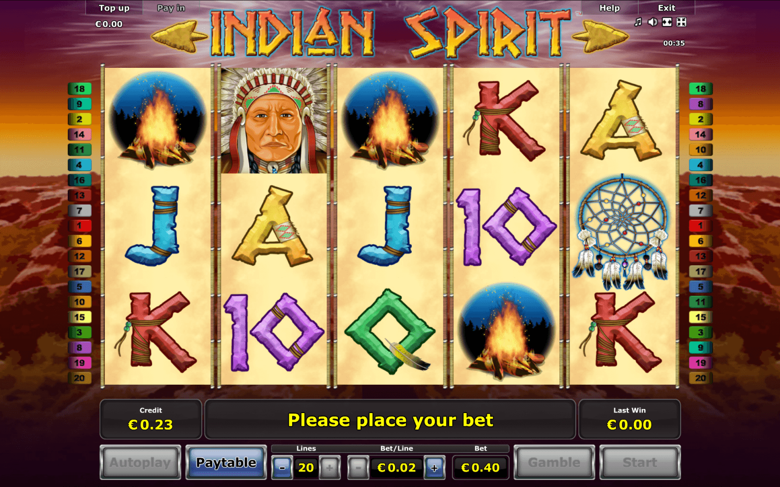 casino online slot indian spirit