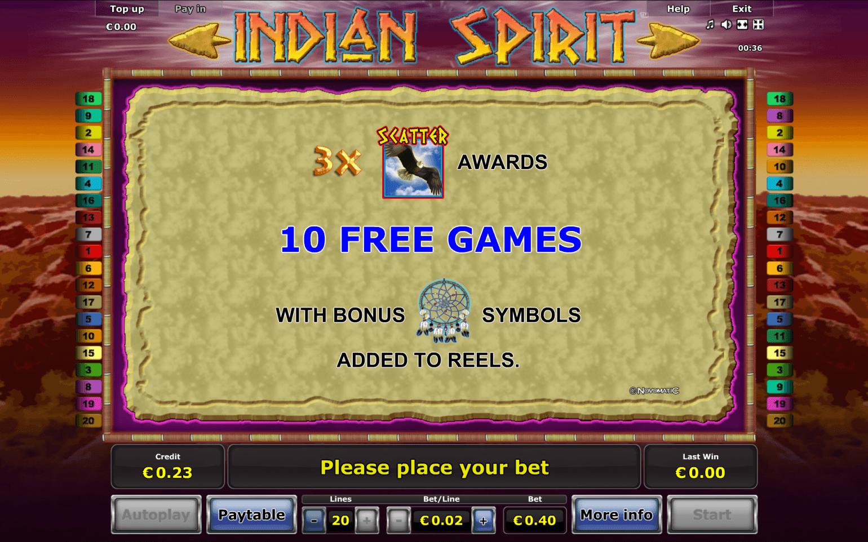 online casino strategie indian spirit