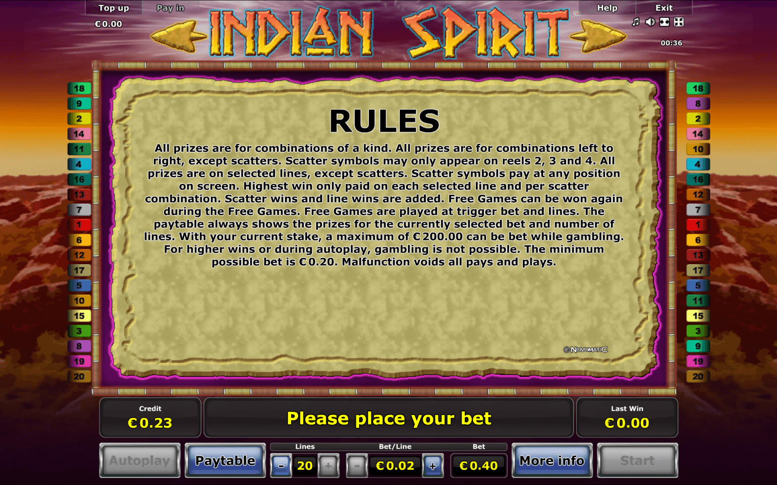 sunmaker online casino indian spirit
