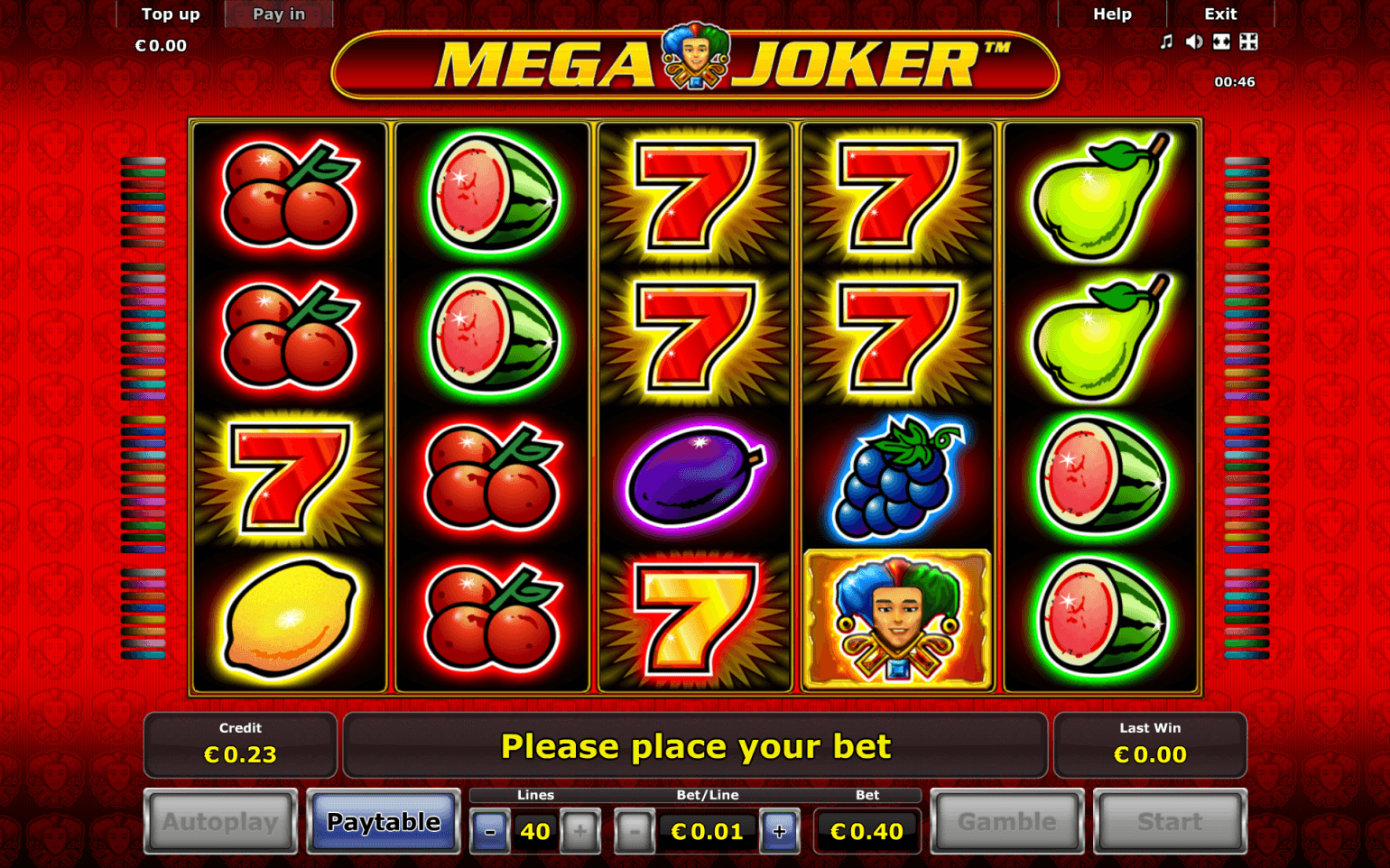 Mega Joker™ Slot Machine Game to Play Free in NetEnts Online Casinos