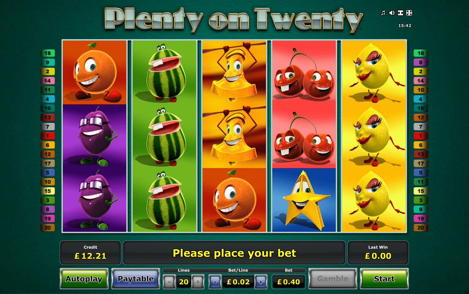Plenty On Twenty Slot Free