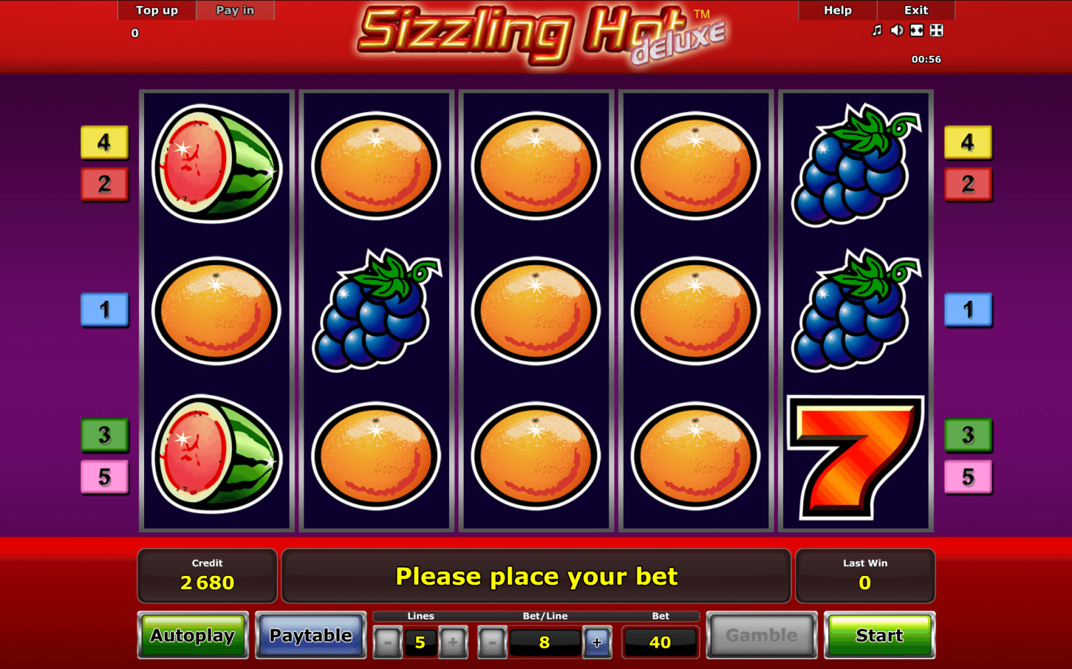 sizzling hot mobile games