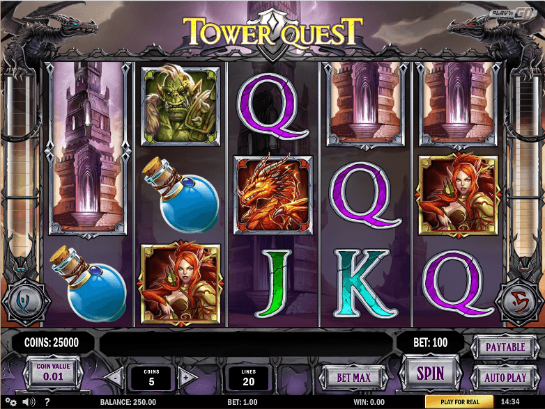 Play Tower Quest Slots For Free On This Page